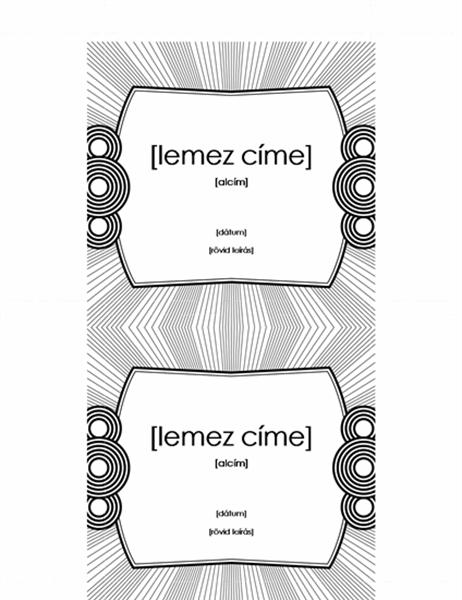 CD-tokba való címke