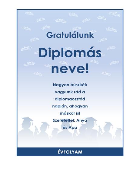 Gratulációs szórólap diplomaosztóra (Diplomaosztó ünnepség arculat)