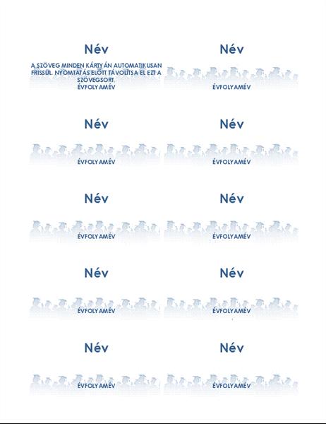 Névkártyák diplomaosztóra (laponként 10)