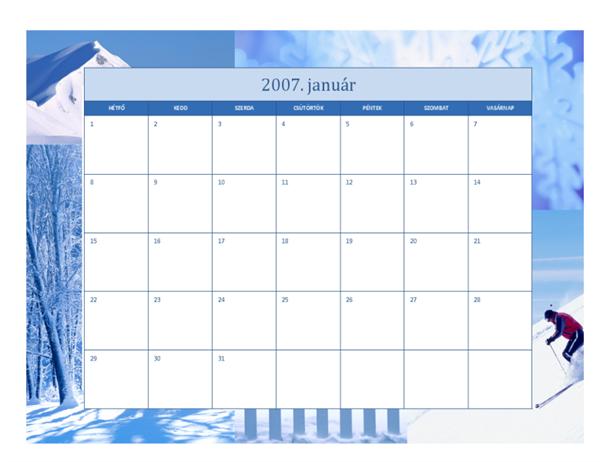 2007. évi naptár (12 oldalas, évszakos)
