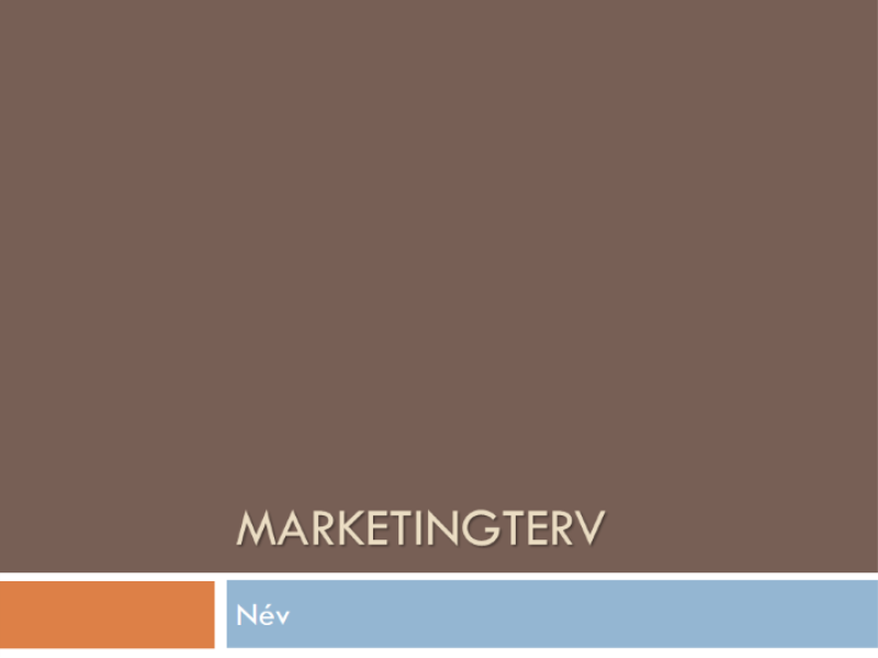 Marketingterv