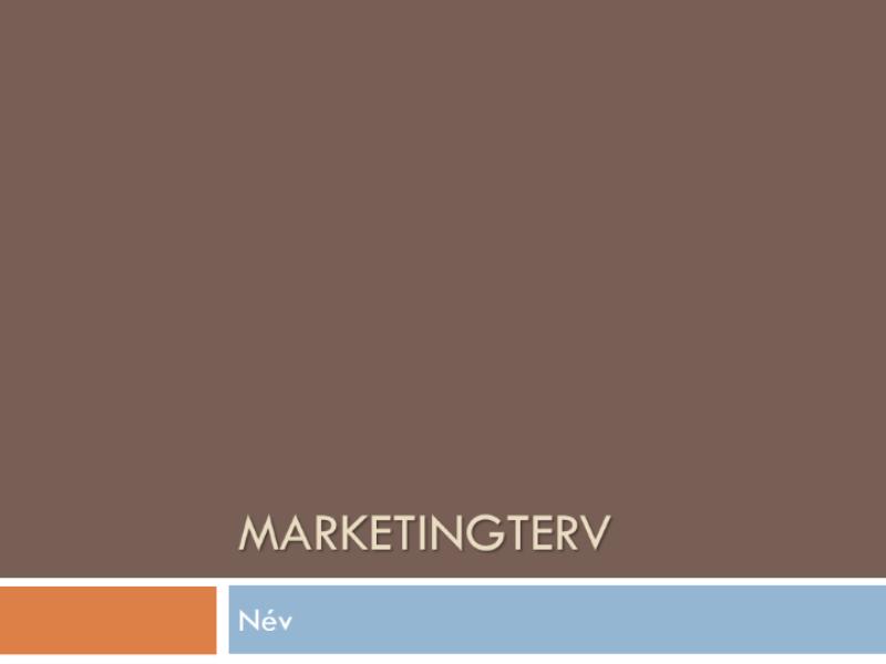 Marketingterv