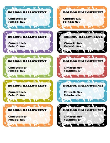 Halloweeni címkék (10 darab oldalanként)