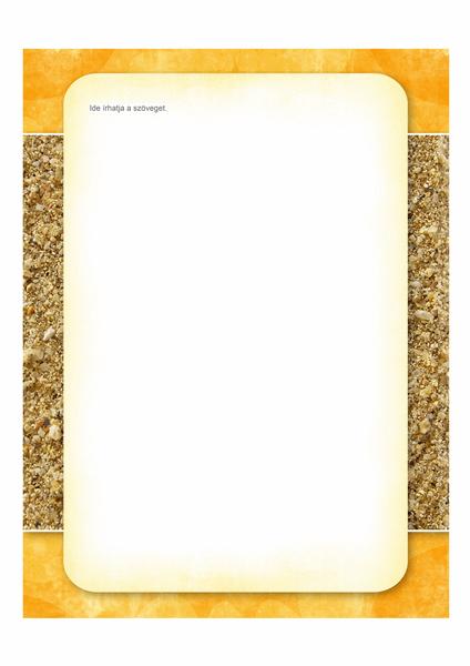 Levélpapír (nap és homok látványterv)