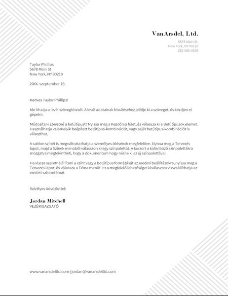 Hajszálcsíkos levélfejléc