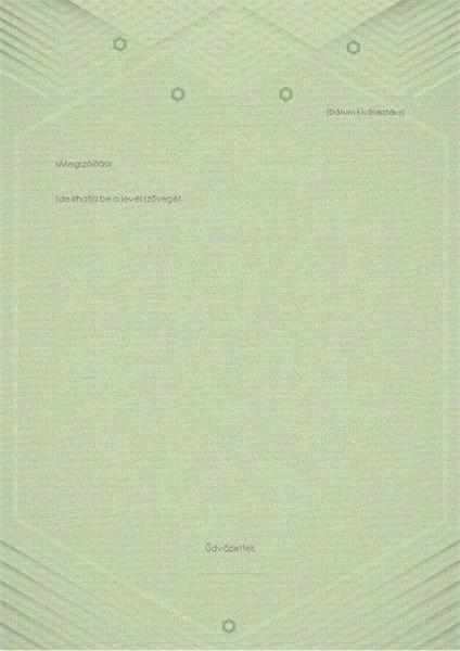 Sablon személyes levelekhez (elegáns szürke-zöld arculat)