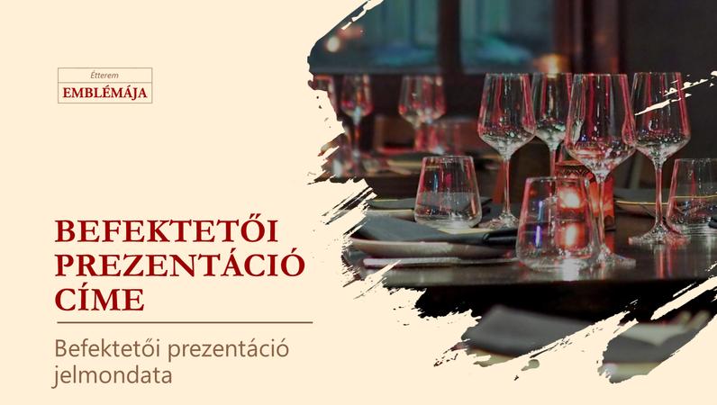Étterem befektetői prezentációja