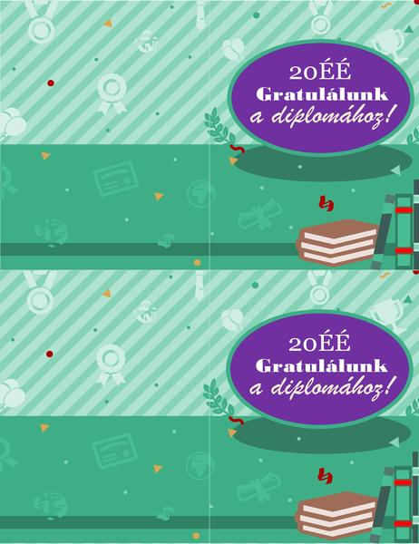 Diplomához gratuláló kártya (laponként 2)