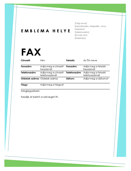 Geometrikus faxfedőlap
