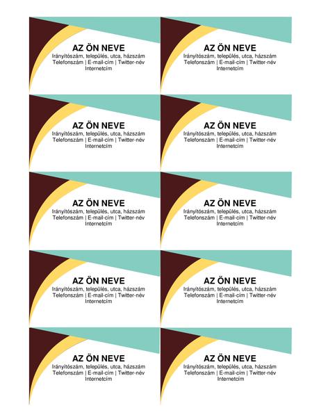 Földszínű névjegykártyák