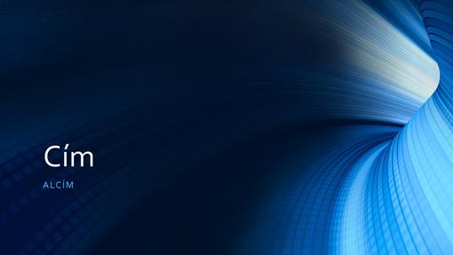 Üzleti, digitális kék alagutas bemutató (szélesvásznú)