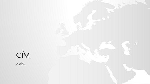 Világtérkép-sorozat, Európát ábrázoló bemutató (szélesvásznú)