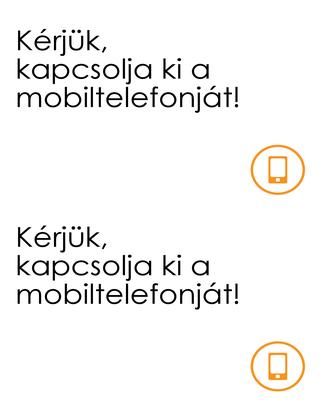 Emlékeztető mobiltelefon kikapcsolására