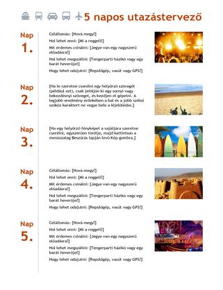 5 napos utazástervező