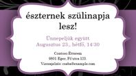 Meghívó összejövetelre (lila szalagos látványterv)