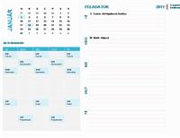 Heti tervező naptár diákoknak (bármelyik év, H–V)