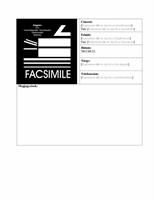 Fedőlap üzleti faxhoz