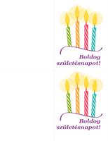 Születésnapi kártyák