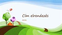 Természetbarát bemutató illusztrált tájképpel (szélesvásznú)