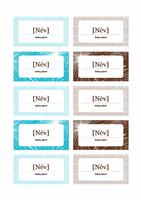 Ültetési kártyák szilveszteri összejövetelhez (Avery 5371-es papírhoz)