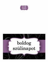 Születésnapi kártya (lila szalagos)