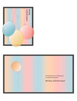 Születésnapi üdvözlőkártya