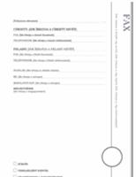 Faxfedőlap (Loggia kivitel)