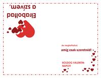 Valentin-napi üdvözlőkártya (szíves látványterv)
