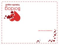 Valentin-napi üdvözlőkártya (belül üres)