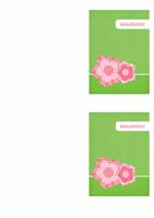 Köszönőkártya (virágos téma)