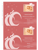 Esküvői értesítőkártya