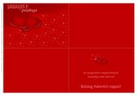 Valentin-napi üdvözlőlap (kétszer összehajtós)