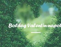 Valentin-napi üdvözlőlap (félbehajtós)