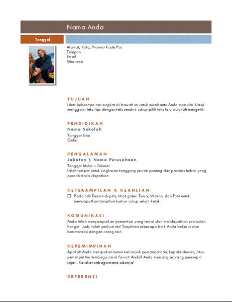Resume foto (tema Median)