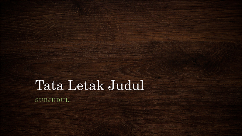 Presentasi alam irisan kayu (layar lebar)