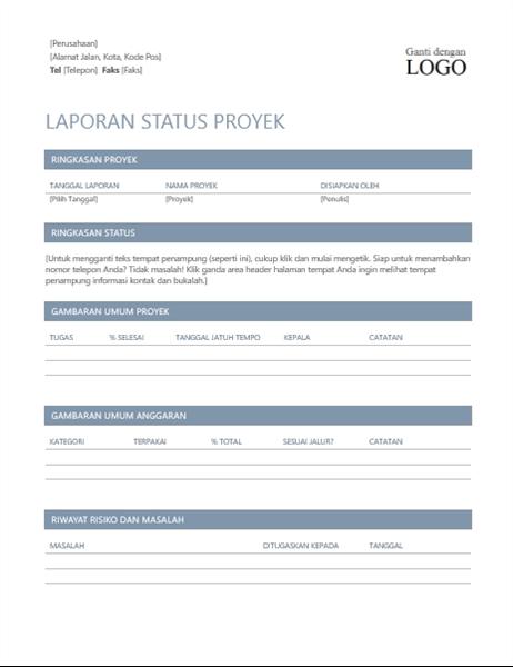 Laporan status proyek