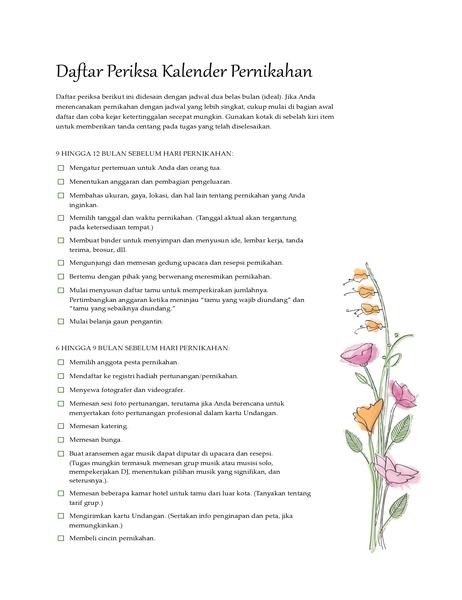 Daftar Periksa Pernikahan (cat air)