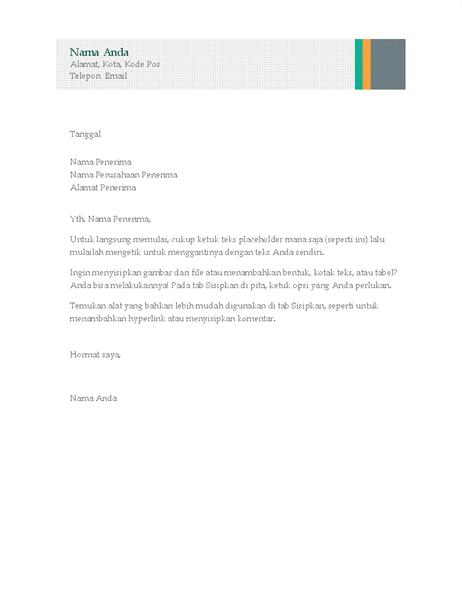 Surat bisnis (desain Garis Penjualan)