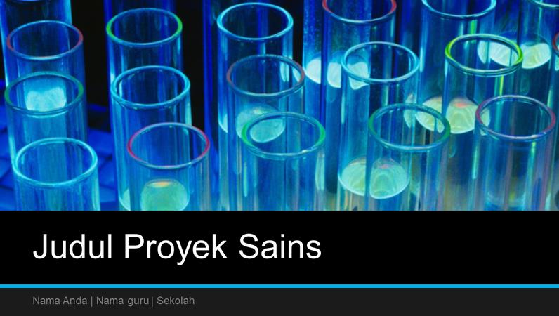 Presentasi proyek sains (layar lebar)