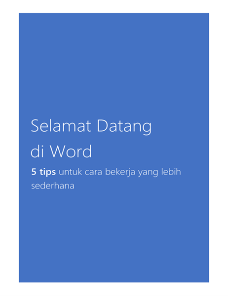 Selamat Datang di Word 2013