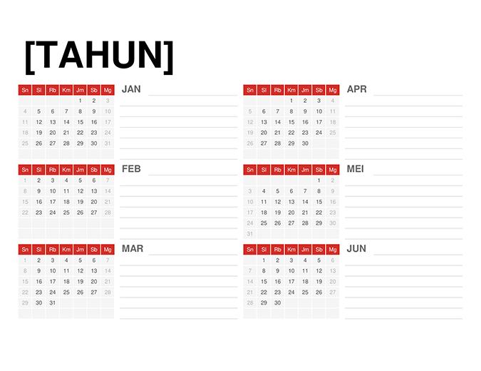 Kalender semua tahun