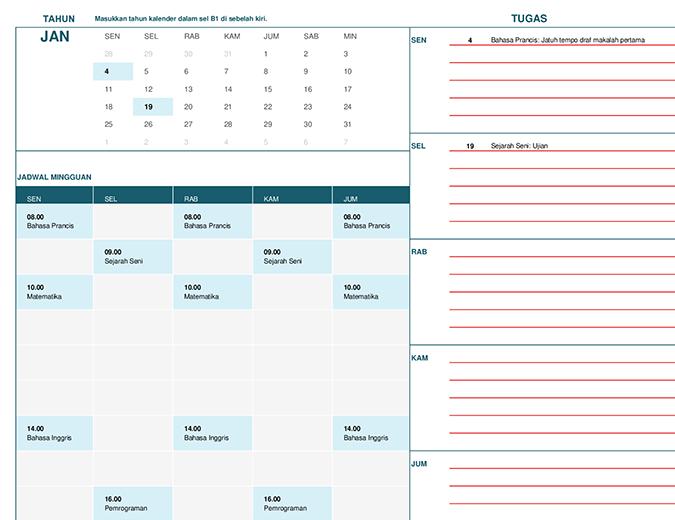 Kalender siswa (Sen)