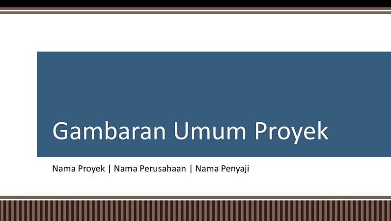Presentasi gambaran umum perencanaan proyek bisnis