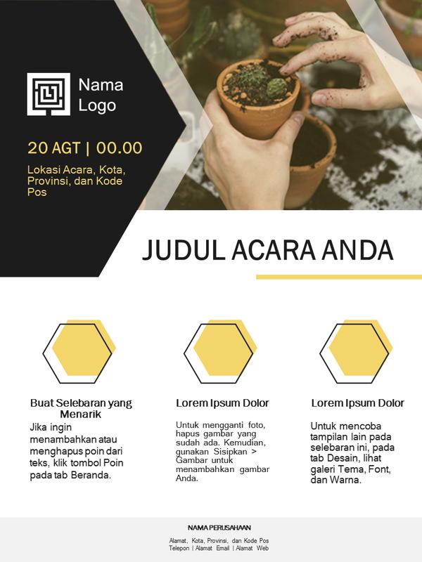 Selebaran bisnis kecil (desain emas)
