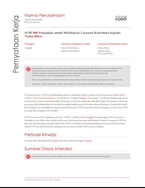 Laporan Pekerjaan (desain Merah)