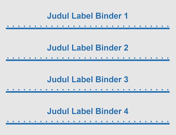 """Sisipan label binder 2"""" (4 per halaman)"""