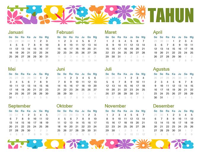 Kalender menarik untuk semua tahun