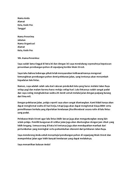 Surat dukungan kepada pejabat setempat