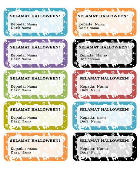 Label Halloween (10 per halaman)