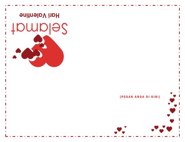 Kartu Hari Valentine (empat lipatan)